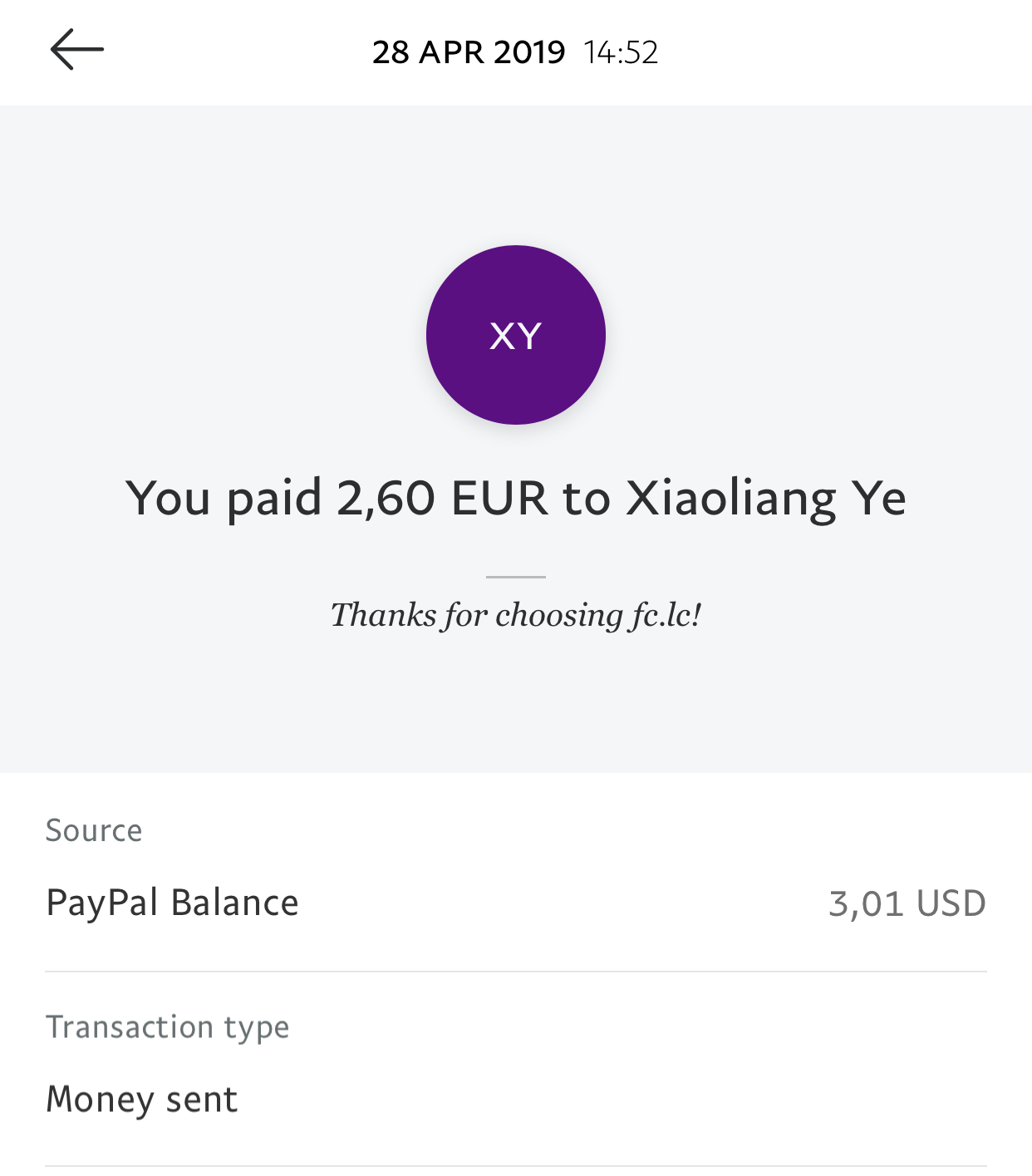 FC.LC Payment Proof